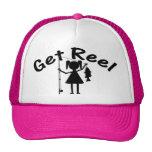 Consiga el carrete - niñas pesca gorra