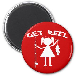 Consiga el carrete - niñas pesca imán redondo 5 cm
