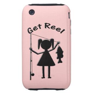 Consiga el carrete - niñas pesca iPhone 3 tough carcasa