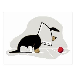 Consiga el cono de la cabeza de perro del pozo pro tarjeta postal