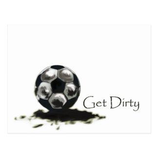 Consiga el fútbol sucio postales