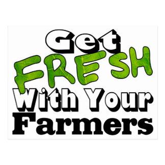 Consiga el granjero fresco postal