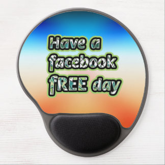 Consiga el ~ inspirado tienen un día del facebook  alfombrilla con gel