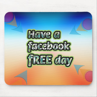 Consiga el ~ inspirado tienen un día del facebook  mousepads