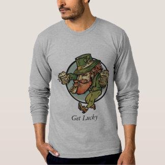 Consiga el Leprechaun afortunado Playera