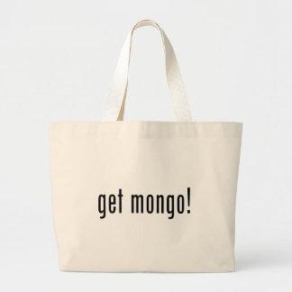 consiga el mongo bolsa lienzo