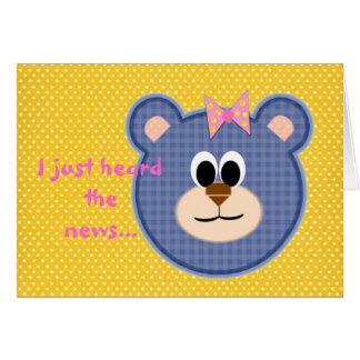 Consiga el oso de peluche bien tarjeta