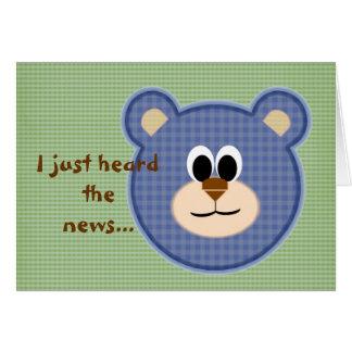 Consiga el oso de peluche bien felicitacion