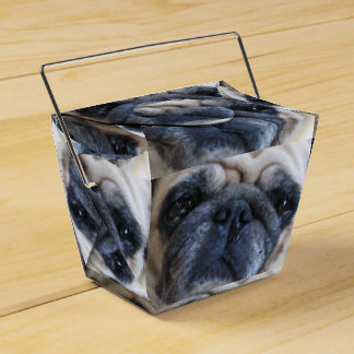 Consiga el perro pronto enfermo bien del barro caja para regalo de boda