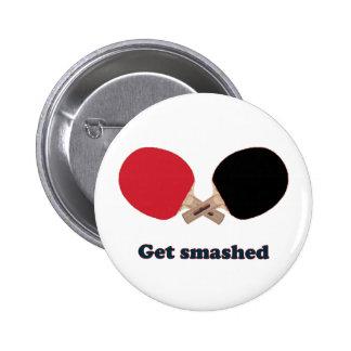 Consiga el ping-pong roto pin redondo 5 cm