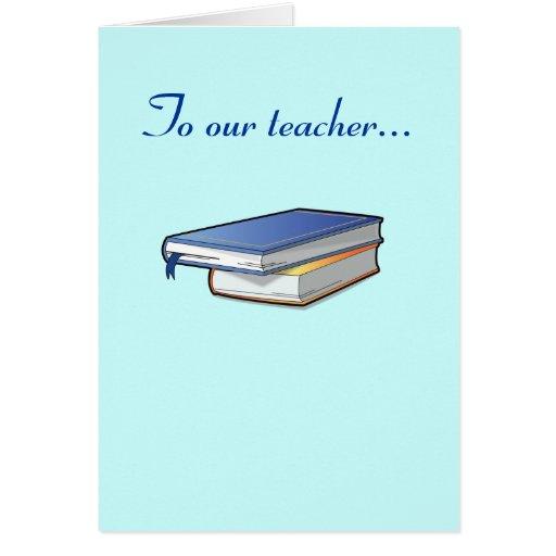 Consiga el pozo pronto al profesor tarjeta de felicitación