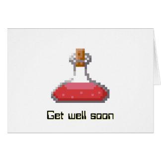 Consiga el pozo pronto con la poción curativa tarjeta de felicitación