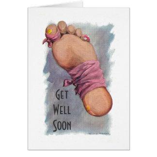 Consiga el pozo pronto de la cirugía - lesión tarjeta de felicitación