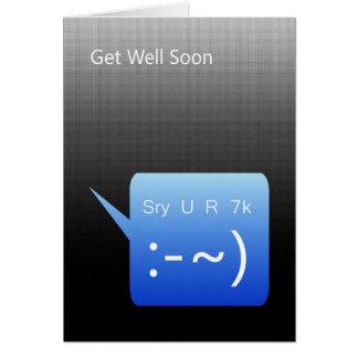 Consiga el pozo pronto, mensaje de texto de SMS Tarjeta De Felicitación