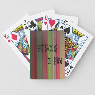 consiga el respaldo barajas de cartas