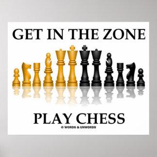 Consiga en el ajedrez del juego de la zona (el jue impresiones