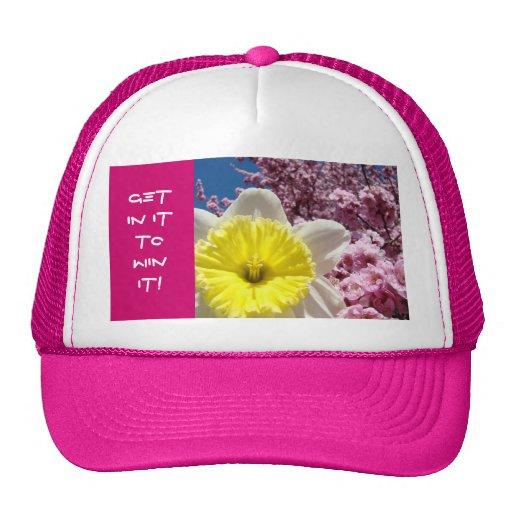 ¡CONSIGA EN ÉL GANARLO! se divierte la flor de la  Gorros Bordados