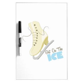 Consiga en el hielo pizarras blancas de calidad