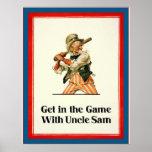 Consiga en el juego con guerra mundial del vintage posters