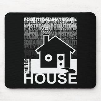 Consiga en la música de la casa alfombrillas de ratones