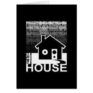 Consiga en la música de la casa tarjeta de felicitación