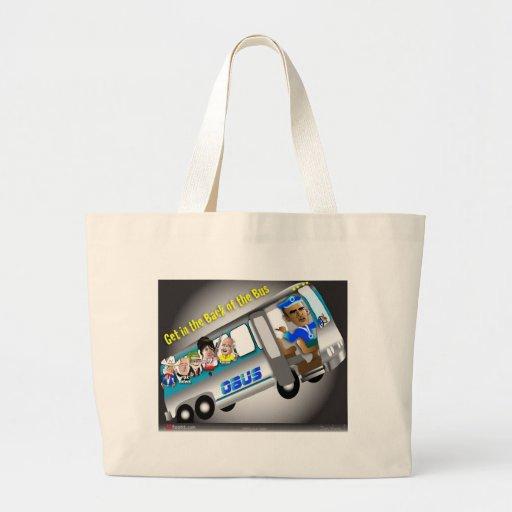 Consiga en la parte posterior del autobús bolsa de mano