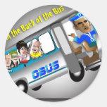 Consiga en la parte posterior del autobús pegatinas redondas