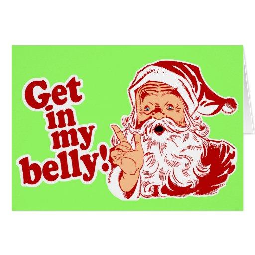 Consiga en mi Belly Santa Tarjetas