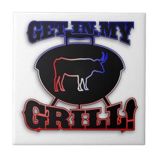 Consiga en mi carne americana del Bbq de la barbac Teja Cerámica