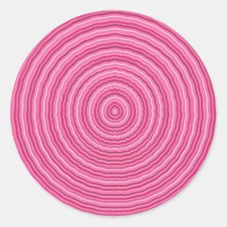 Consiga en mi círculo rosado - plataforma creada pegatina redonda