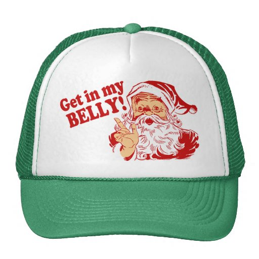 Consiga en mi navidad divertido del Belly Gorras De Camionero
