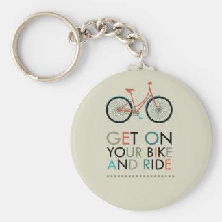 Consiga en su bici y monte llavero