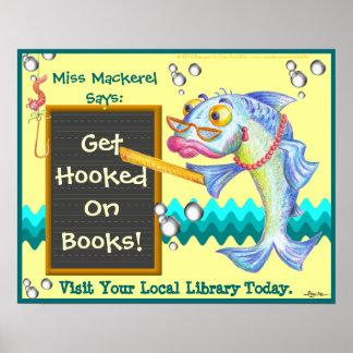 ¡Consiga enganchado en los libros! Poster
