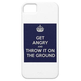 consiga enojado y láncelo en la tierra iPhone 5 Case-Mate cárcasa