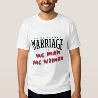 Consiga esta boda recta es un hombre una mujer playeras