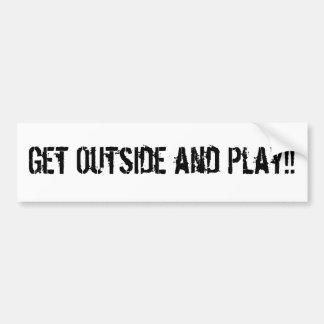 ¡Consiga exterior y juego!! Pegatina Para Auto
