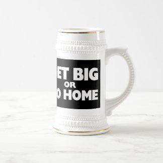 Consiga grande o vaya a casa blanco tazas