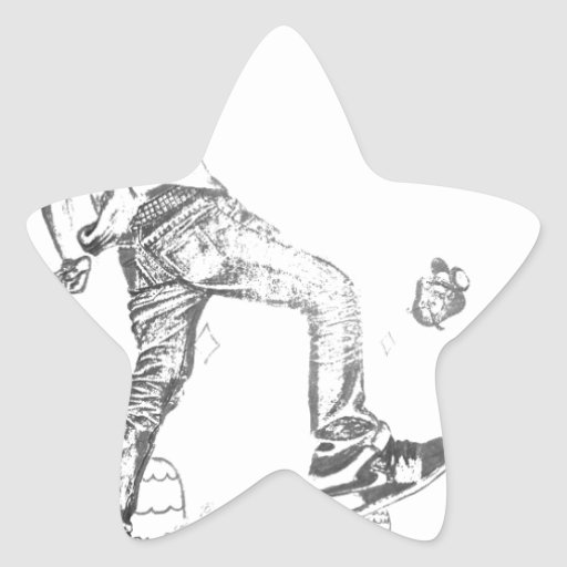 consiga grande pegatina en forma de estrella