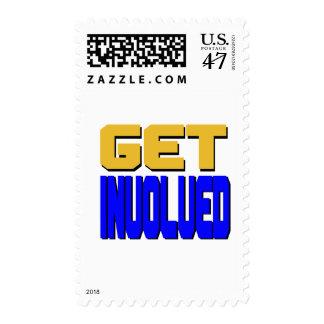 Consiga implicado sellos postales