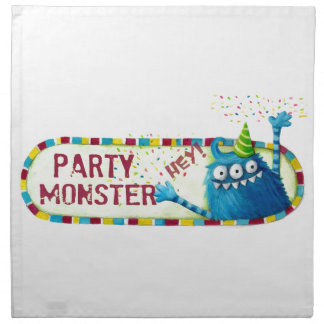 Consiga junto con monstruo del fiesta servilleta de papel