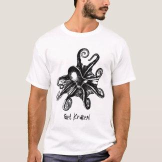 ¡Consiga Kraken! Camiseta de STeampunk del pulpo