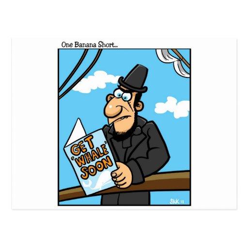 Consiga la ballena pronto tarjeta postal