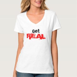 Consiga la camiseta con cuello de pico REAL Polera