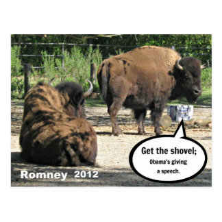 Consiga la pala; Obama pronunciar un discurso Postales