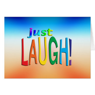 ¡Consiga la risa inspirada del ~ apenas! Tarjetón