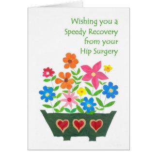 Consiga la tarjeta bien - cirugía de la cadera