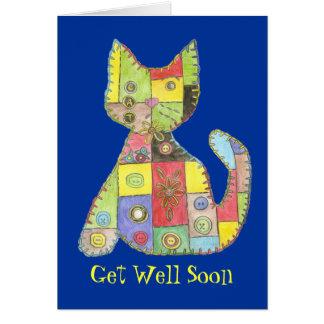 Consiga la tarjeta bien con el gato del remiendo