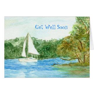 Consiga la tarjeta bien con el velero