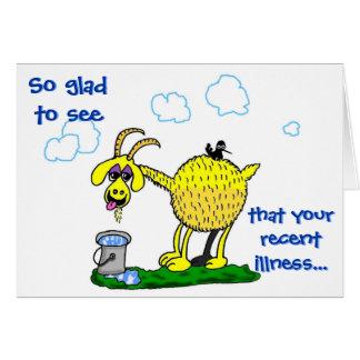 Consiga la tarjeta bien -- La enfermedad consigue