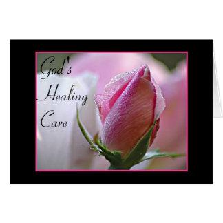 Consiga la tarjeta color de rosa bien